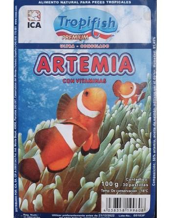 Artemia congelada 100 gramas embalagem blister 30...