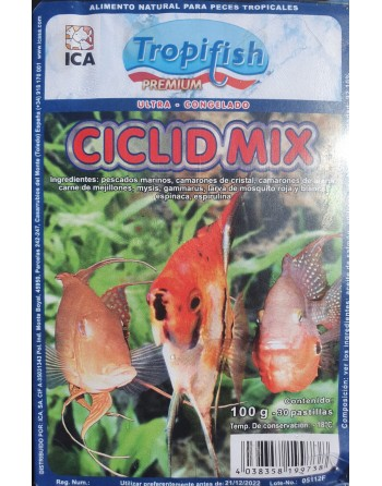 Special food for cichlids 100 gram blister pack 30 tablets