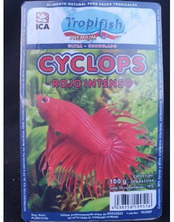 Cyclops Rojo intenso Blister de 100 gr - 30 pastillas