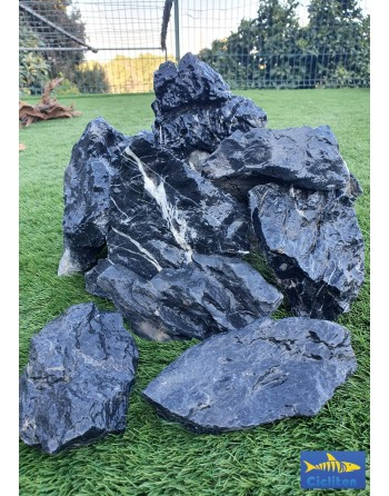 Roca negra landcape [aman] 5 a 8 piezas caja de 10 kg