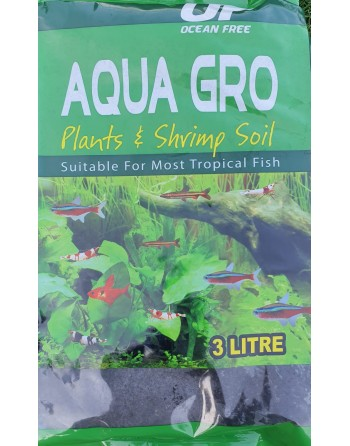 Black enriched nutrient substrate ocean free 3 liters