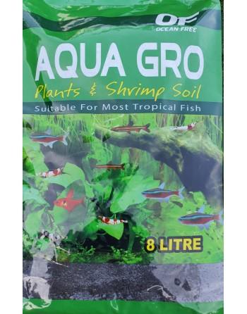 Sustrato nutritivo enriquecido negro ocean free 8 litros