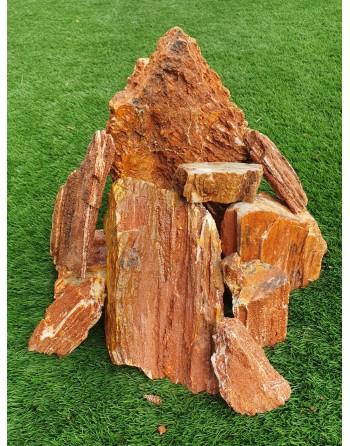 Pedra Wooden Fossil de 6 a 10 peças 10kg